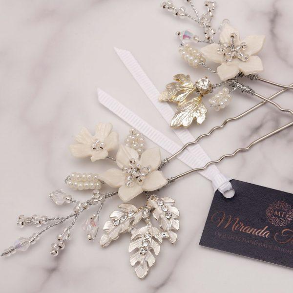 Gardenia Bridal Hair Pins