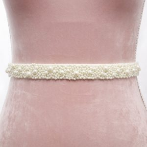 Pia Bridal Belt with Ribbon Ties