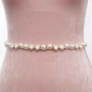 Piedmont Bridal Belt with Ribbon Ties