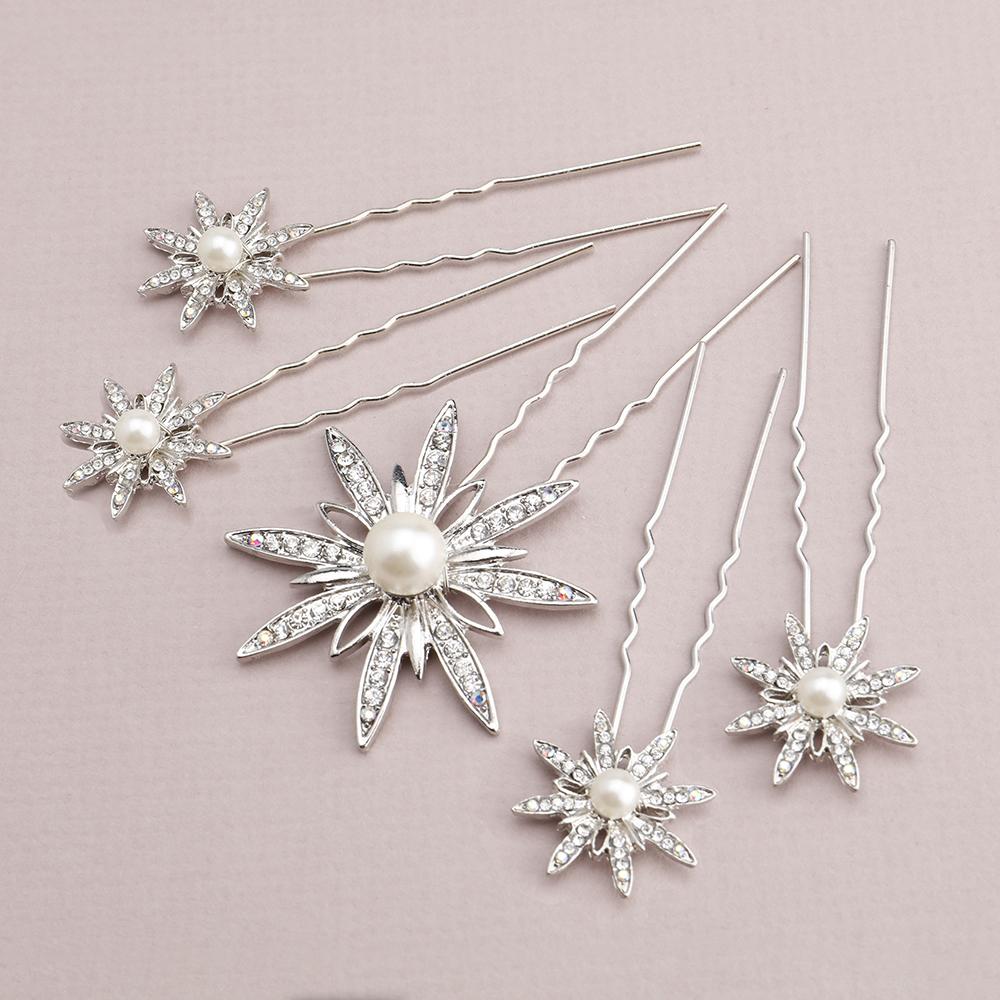 Portia Bridal Hair Pins Set Of 5