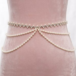 Primavera Bridal Belt with Ribbon Ties