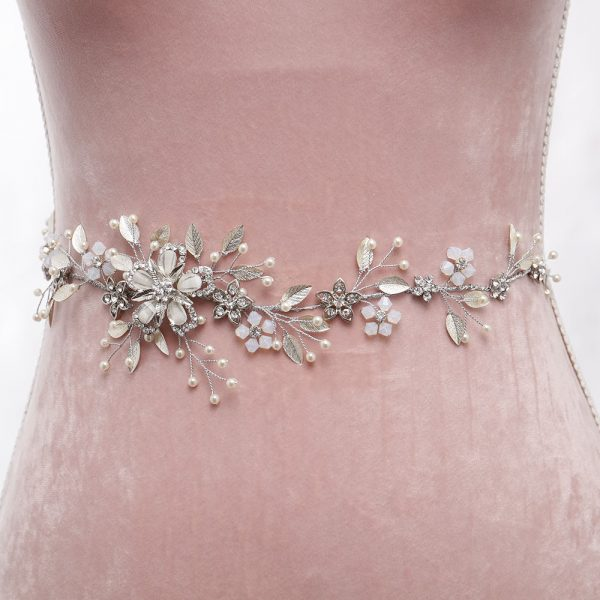 Reverie Bridal Belt with Ribbon Ties