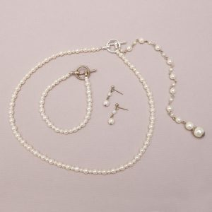 Taylor Bridal Necklace with Back Drop