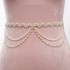 Wanderlust Bridal Belt with Ribbon Ties