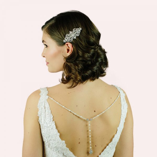 Ennis Bridal Back Drop Necklace