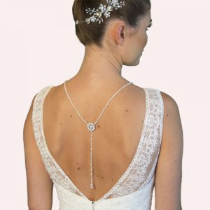 Tatlock Bridal Jewellery with Back Drop and Earrings