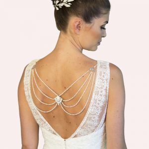 Tierney Bridal Back Drop Necklace