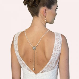 Torres Bridal Jewellery with Back Drop and Earrings