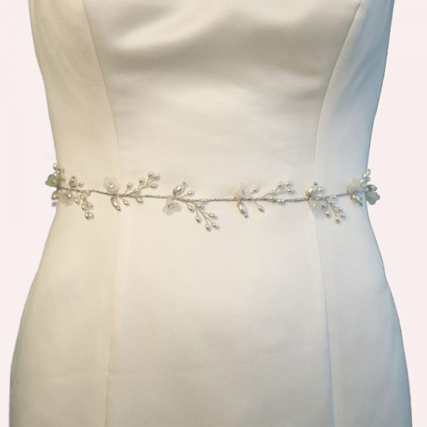 Yateley Bridal Belt with Ribbon Ties