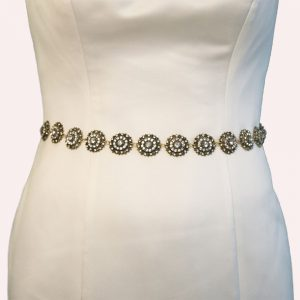 Youldon Bridal Belt with Ribbon Ties